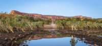 Lake and road in the Kimberley, Western Australia