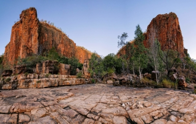 Chasm in Western Australia. One of the Kimberley's most striking features.