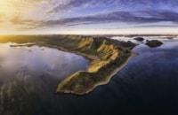 Ulysses Web, Western Australia. Ulysses Bay at Lake Argyle just on twilight.