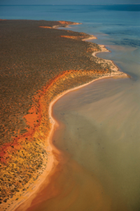 Aerial view of Dirk Hartog Island National Park Mandatory credit: Tourism Western Australia